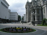 Square in front of House with Chimaeras.JPG