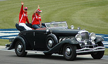Schumacher and Barrichello in USGP Drivers' Parade.jpg